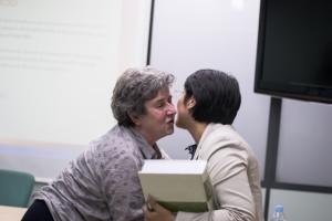 La Dra. Forés, semFYC i la Resident Diana Fernandez