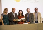 Entrega del Premi a Elba Arnal. Dra. Monteserín, Dr. Basora, Dr. Vilardell, Dr. Casasa i