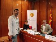 La presidenta del Jurat, la Dra. Rosa Monteserín amb el Dr. Albert Casasa, cap d'estudis de la Unitat Docent i el Dr. Sellarès, gerent, a l'edició del 2017.