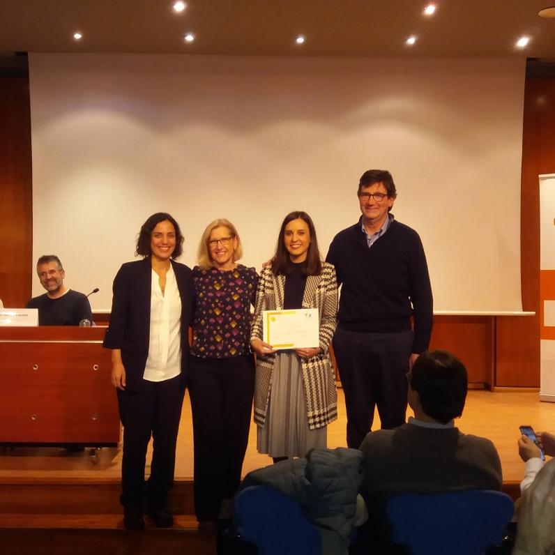 El jurat amb la guanyadora 2019, Dra. Esther Navarrete